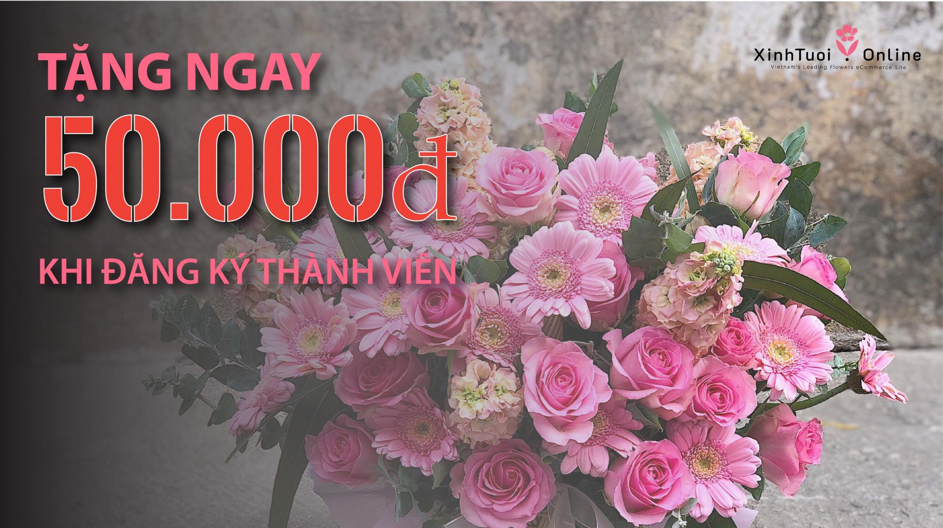 Nhận ngay 50.000 điểm thưởng khi đăng ký thành viên tại xinhtuoi.online