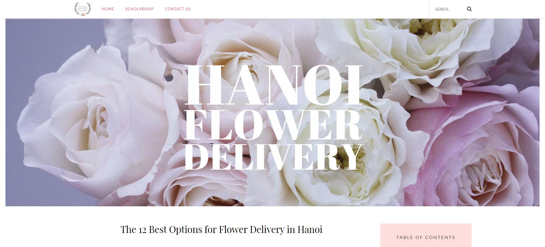 flowerdelivery-reviews.com liệt kệ Xinh Tươi Online và top 13 địa chỉ đặt hoa uy tín tại Hà Nội