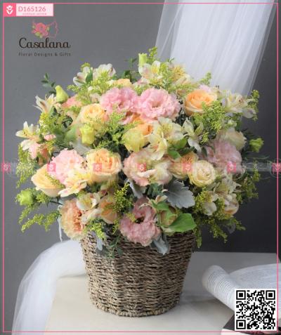 Lẵng Florist Choice Cam Đào - D165126 - xinhtuoi.online