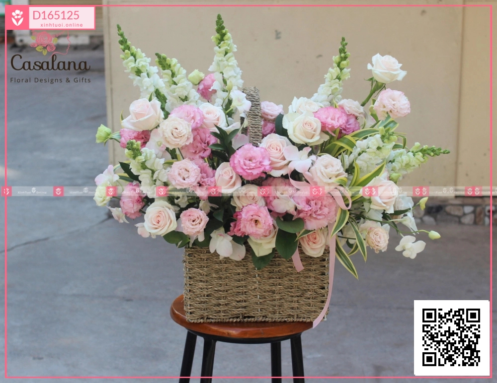 Lẵng Market Choice Hồng - xinhtuoi.online
