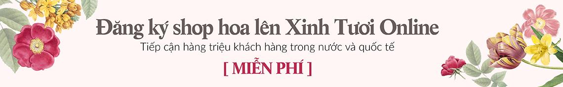 Đăng ký cửa hàng hoa lên sàn Xinh Tươi Online - xinhtuoi.online